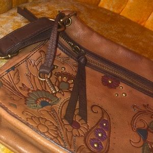 Beautiful Fossil Leather Crossbody Bag